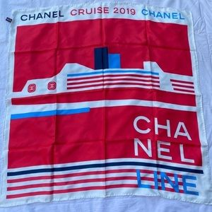Chanel silk square scarf
